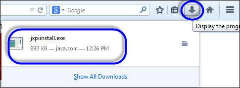 how to make a program appear in the toolbar